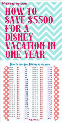 #Disney budget plan to save for your next trip.Request a quote for your next vacation from Destinations in Florida at http://destinationsinflorida.com/pinterest