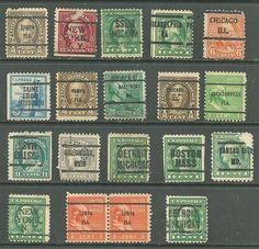 Collection Of 19 Valuable Bureau Precancel Stamps # 734 - 5¢ General Kosciu 20¢