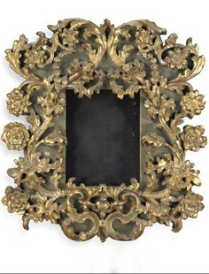 An Italian carved giltwood and green painted frame, Bolognese mid 17th century