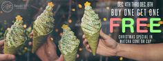 If you fa la la la love ice cream, then you are in luck because Taiyaki are in the giving mood this holiday season. If you buy one of their holiday cones December 4th - 8th, you can get another for free! It's perfect for you and a date or you could always just utilize both of your hands.