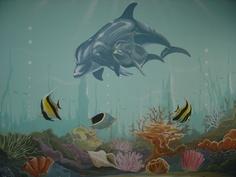Underwater / Dolphin by Dream Walls Murals, via Flickr