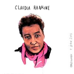 Claudia Rankine portrait by Katherine J Lee