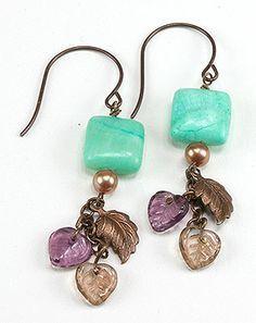 Beautiful pumpkin earrings handmade jewelry earrings and more