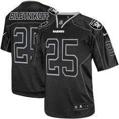 Fred Biletnikoff Men s Elite Lights Out Black Jersey  Nike NFL Oakland  Raiders  25 efbb3e3bb