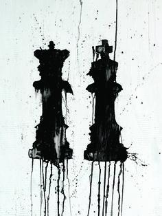 "For Sale: mr. & mrs. by kenT youngstrom | $250 | 18""w x 24""h | Original Art | http://www.vangoart.co/buy/art/mr-mrs @VangoArt"
