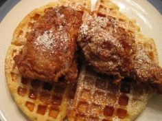 Chicken and Waffles on Pinterest | Chicken and waffles, Fried chicken ...