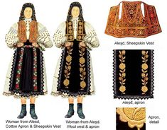 Romania Folk Natioanl Ethnic Popular Costumes Alesd