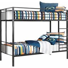 Rent to Own Bedroom Furniture - Premier Rental-Purchase located in Dayton, OH. Signature Furniture by Ashley Gray Metal Bunkbed. (937) 278-2000 - Get 50% Off Your First Payment.