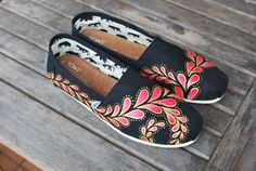 Hand Painted Paisley TOMS shoes by BStreetShoes on Etsy, $149.00