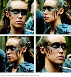 [gifset] #Lexa. I love her face paint and the little symbol thing on her forehead.