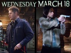 There are two sides to every story. Supernatural returns on it's NEW NIGHT Wednesday, March Winchester Supernatural, Supernatural Tv Show, Demon Trap, My Guardian Angel, Winchester Brothers, Two Brothers, Misha Collins, The Cw, Destiel