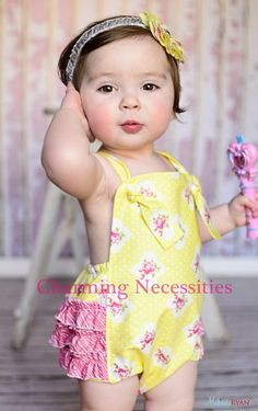 This would be adorable for a beach session: Vintage Beauty Sunsuit in Cottage Garden Yellow - Charming Necessities