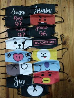 Kpop mask, leave in observation which mask you want. Confirm stock before purchase Diy Mask, Diy Face Mask, Mascara Kpop, Mochila Kpop, Mouth Mask Design, Cartoon Expression, Kpop Diy, Bts Clothing, Mouth Mask Fashion