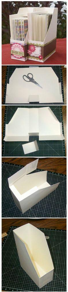 29 Ideas For Diy Paper Holder Organizing Magazine Files Craft Organization, Craft Storage, Paper Storage, Storage Ideas, Box Storage, Organizing Ideas, Origami, Magazine Files, Ideas Magazine