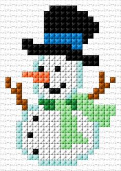 Most up-to-date Screen Cross Stitch cards Suggestions Snowman Cross Stitch Pattern, Easy Cross Stitch Patterns, Cross Stitch Pattern Maker, Cross Stitch Borders, Cross Stitch Designs, Cross Stitching, Cross Stitch Embroidery, Cross Stitch Christmas Ornaments, Xmas Cross Stitch