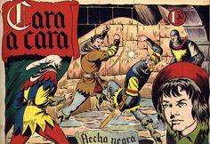 """LOS VIERNES TEBEOS """"Cara a cara"""" de la serie """"Flecha Negra"""" Flecha Negra es una colección mítica del catálogo del tebeo autóctono. Uno de los grandes personajes salidos de la pluma del maestro Boixcar. Esta colección es una joya de coleccionista, ya que apenas se conocen tres o cuatro series completas."""