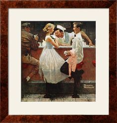 """After the Prom"", May 25,1957 Giclee Print by Norman Rockwell - AllPosters.co.uk"