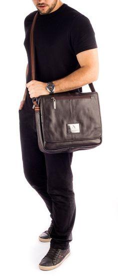 Pasta masculina em couro Vira Vento marrom - Enluaze - Bolsas, mochilas, roupas e acessórios