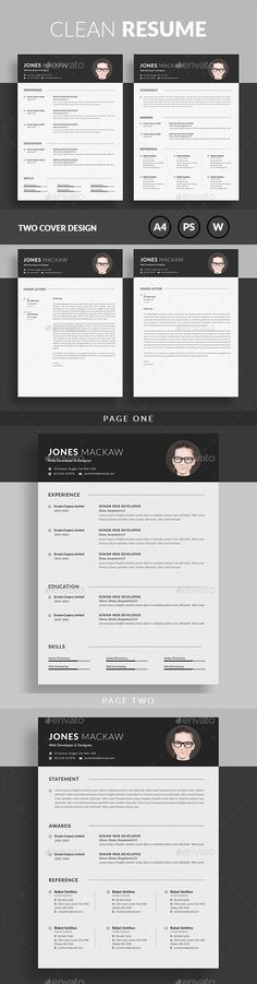"""Resume by linzo91 Resume8.27x11.69 with 0.25"""" bleedsRESUME & COVER LETTER PSD & MS WORD FORMAT 300 DPI, CMYK, Print ready file Very Easy to Customiz"""