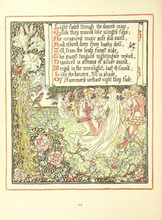 Image taken from page 84 of 'Queen Summer; or, the Tourney of the lily & the rose. Penned & portrayed by Walter Crane' | by The British Library