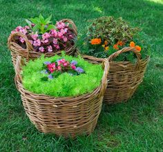 Stock photo ✓ 14 M images ✓ High quality images for web & print | Beautiful basket of flowers in the garden landscape