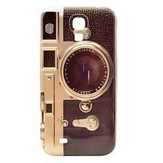 Retro Camera Pattern Plastic Protective Back Cover for Samsung Galaxy S4 I9500 - USD $ 3.99