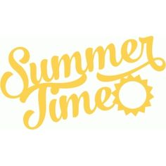 Silhouette Design Store - View Design #62539: summer time brush script title