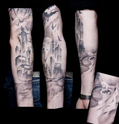 Robbies Bubbles: Batman Gotham Tattoo