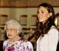 Queen Elizabeth and the Duchess of Cambridge
