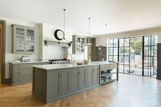 Olive gray cabinetry