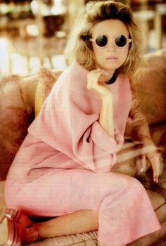 JohnRocha AW13 pink trousers on Brit Marling in Instyle Magazine, August 2013 styling by NatalieHartley photography by LauraSciacovelli