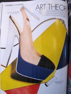 Elle Magazine, March 2012. Mondrian Dress, Elle Magazine, Classy And Fabulous, Coco Chanel, Ysl, Fashion Art, Product Launch, Heels, March