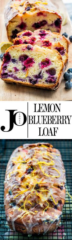 This lemon blueberry yogurt loaf is moist and delicious with just the right amount of blueberries and lemon. Enjoy a slice for dessert today, perfect with tea or coffee! (quick healthy meals no cook) Bread Recipes, Baking Recipes, Cake Recipes, Dessert Recipes, Chicken Recipes, Dinner Recipes, Homemade Desserts, Coffee Recipes, Shrimp Recipes