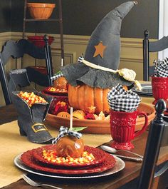 Sweet halloween table setting
