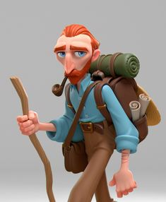 ArtStation - Van Gogh in search of a quiet place to paint., Gabriel Soares Van Gogh Museum, Van Gogh Art, Zbrush, Gabriel, Sculpting, Character Design, Character Reference, Concept Art, Sculptures
