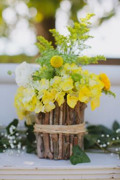 It's these kinds of weddings with blue and yellow rustic spring wedding ideas and DIY details that will leave you weak in the knees and breathless. Yellow Wedding, Summer Wedding, Diy Wedding, Wedding Ideas, Party Wedding, Wedding Blog, Wedding Centerpieces, Wedding Decorations, Spring Wedding Inspiration
