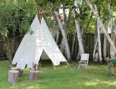 Genial DIY Outdoor Teepee