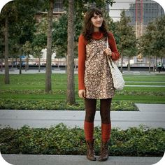 brown and oranges, cozy knits