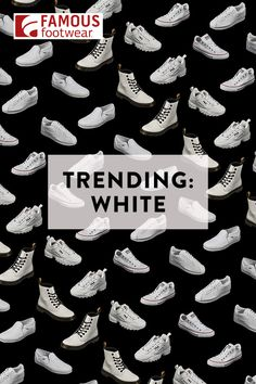 No white after Labor Day? These fresh, clean white sneakers and boots were made to stand out in a big way. White Sneakers, Shoes Sneakers, Shoes Heels, Fashion Styles, Women's Fashion, Fashion Trends, Power Glove, Iphone Wallpaper Vsco, Black Basketball Shoes