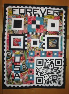 QR Code Quilts from Georgia Bonesteel