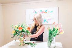 Alexis Grace Florals Tucson Arizona Wedding Florist arranging flowers