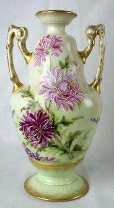 Antique Jean Pouyat Limoges France JPL Victorian Porcelain Vase Urn Dragonfly | eBay