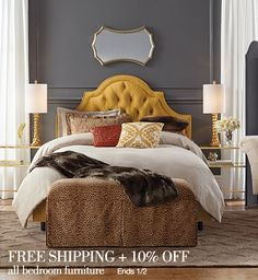 Free shipping + 10% off all bedroom furniture. Ends 1/2.
