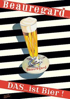Beauregard Beer  by Guhl. http://www.vintagevenus.com.au/vintage/reprints/info/D300.htm