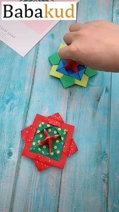 Diy Crafts Hacks, Diy Crafts For Gifts, Diy Arts And Crafts, Creative Crafts, Kids Crafts, Kids Diy, Wood Crafts, Instruções Origami, Paper Crafts Origami