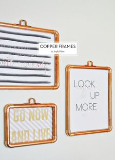 10 MARCH DIYS – Copper Frames