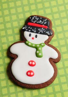 Cozy Snowman Sugar Cookies