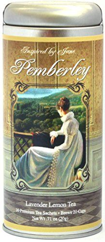 Mr. Darcy's Pemberley - Lavender and Lemongrass Tea From the Inspired By Jane Austen Premium Gourmet Tea Gift Collection - Lovely Birthday Gift for Mom