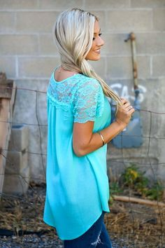 High Low Lace Top | Jane