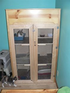 Repurposed Wooden Furniture MultiLevel Rabbit Cage/Hutch/Pen/House/Cage, Indoor